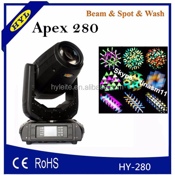 robe 280 3in1 stage lighting fixture, uplight, toppest lighting beam, 10R BEAM WASH SPOT