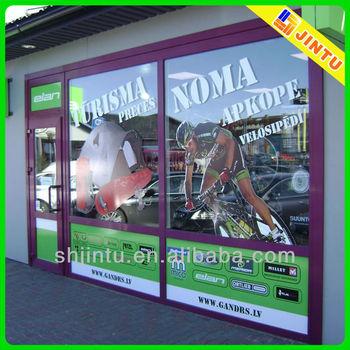 Custom shape vinyl static graphics sticker window decals for Custom vinyl mural prints