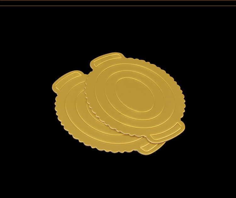 Golden Oval Egg Mousse Cake Board Pad Hard Paper Base Plate