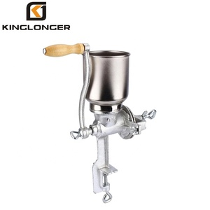 Manual Grain Corn Coffee Wheat Nuts Grinder, Portable Table Mill Maker with Wooden Handle Home Use,Cast Iron Grinding Mill
