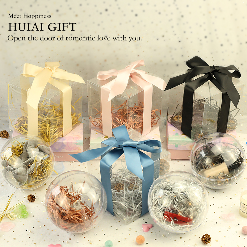 Free Sample Cheap Hot Sale Transparent Plastic Box,Round Or Cube Sugar Balls Plastic Transparent Box