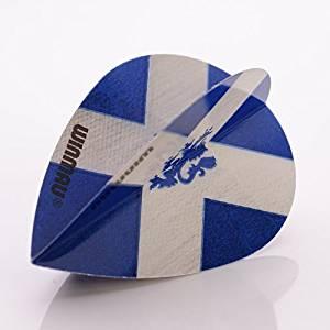 WINMAU MEGA PEAR DARTS FLIGHTS SCOTLAND FLAG ST ANDREWS LION by PerfectDarts