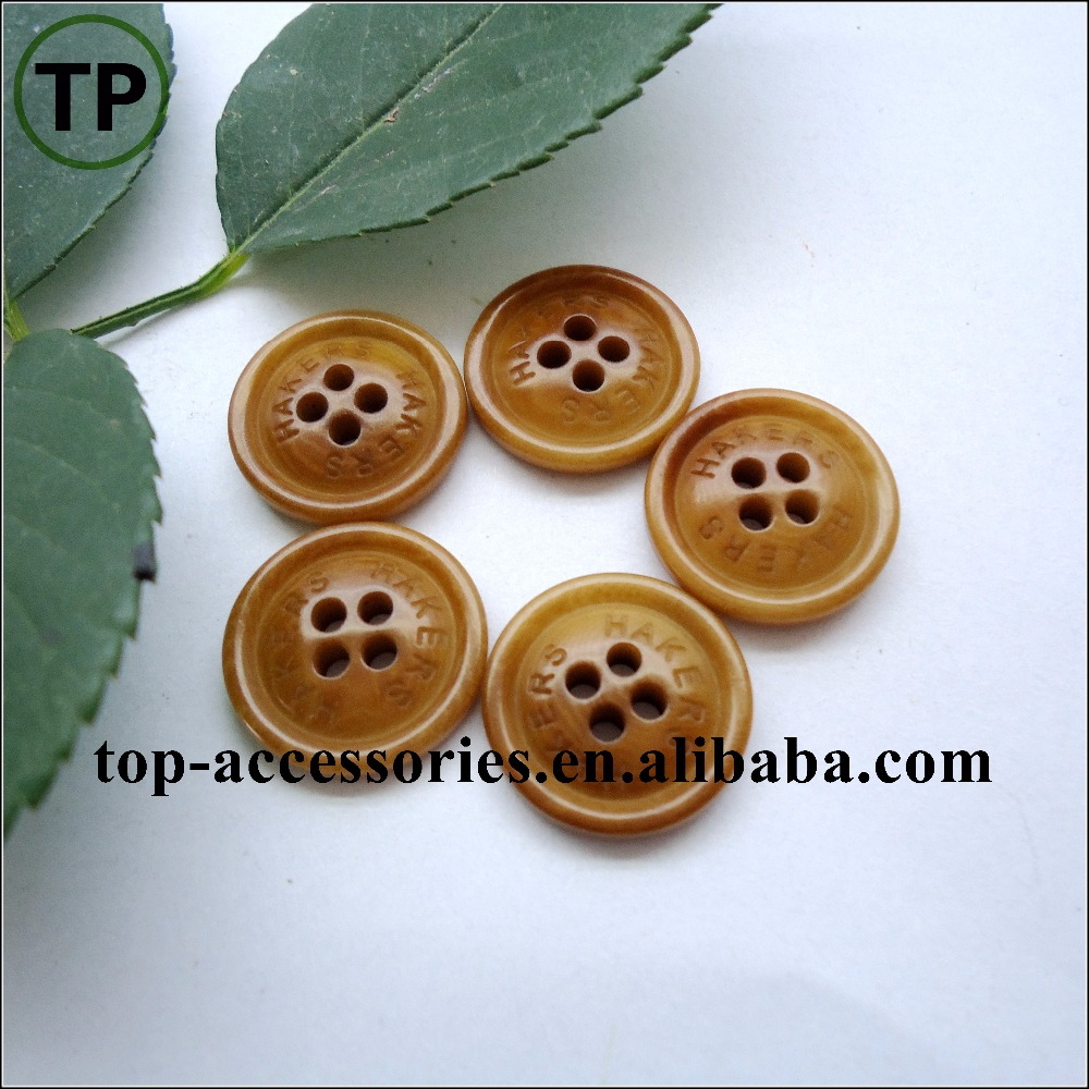 natural ivory laser button made of Real corozo