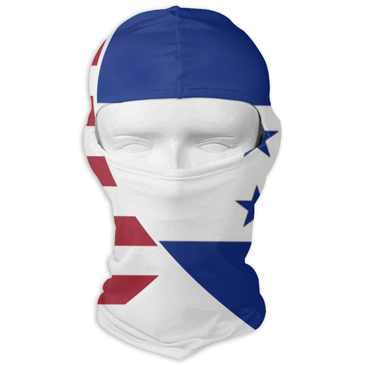 Giinly Honduras USA Flag Twin Heart Outdoor Cycling Ski Motorcycle Balaclava Mask Sunscreen Hat Windproof Cap