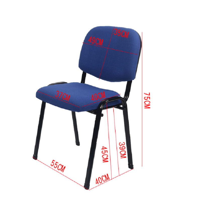 Stackable Mesh Office Conference Meeting Room Visiting Chairs without Wheels