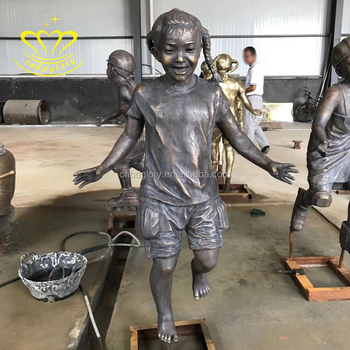 Outdoor Home Garden Decor New Product Bronze Figure Baby Girl Statue For