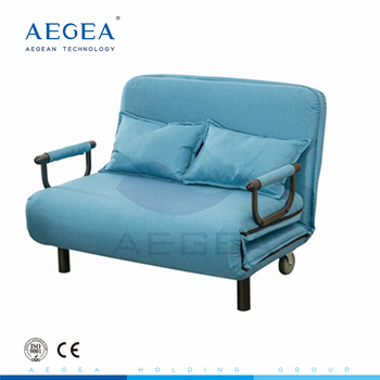 AG-AC011 Competitive price manual adjust patient wardroom accompany hospital folding bed