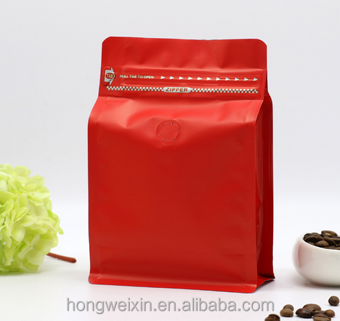 food grade zipper zip lock stand up pouch for coffee tea and dry fruits