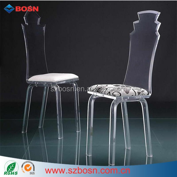 Clear Acrylic Furniture Chair Modern plastic chair acrylic furniture chair for living room