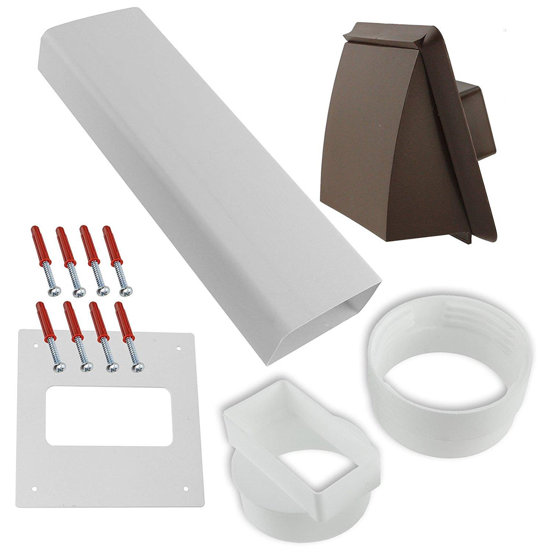 SPARES2GO Vent Hose 2.5 Hose Vented Adaptor Ring Nut Socket Kit for Zanussi Tumble Dryers