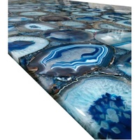 Semiprecious backlit agate countertop blue onyx marble slab agate stone