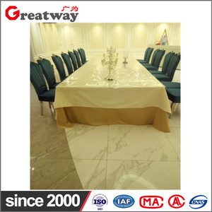 Wholesale modern unique rectangular wood panel metal frame folding white high-gloss extension table.