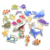 Hot sell wholesale printed bathroom sea animal letters eva foam puzzle floating bath organizer toys set for baby
