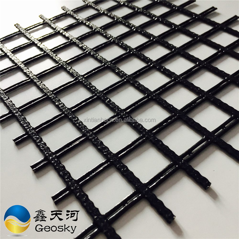 High tensile strength uniaxial polymer geogrid