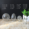 250ml round shape wholesale cracked glass lamp shade cover oil chimney glass