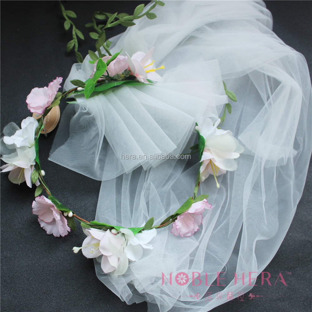 Bulk Sweet Bridal Garland With Mantilla