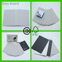 high grade laminated grey chip board paper