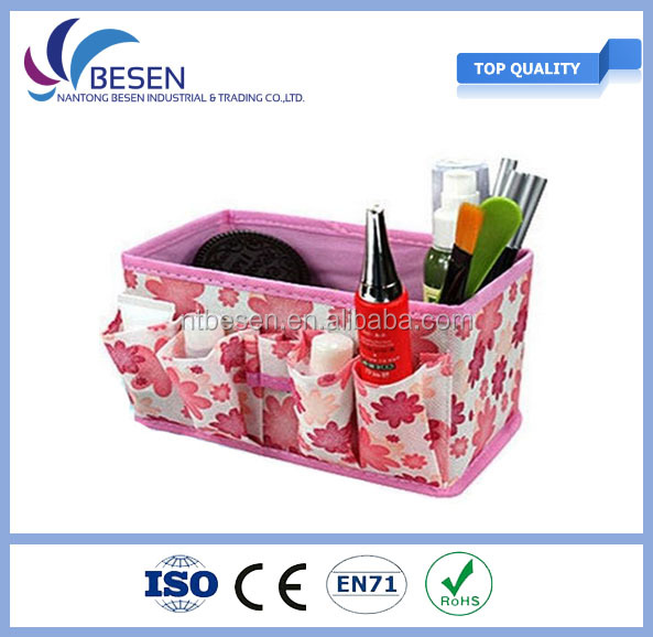 New Pink Foldable Cosmetic Makeup Bag, Box Storage Organizer Case