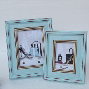 Blue PS Moulding Korea Custom Photo Frames Picture Frames Wholesale