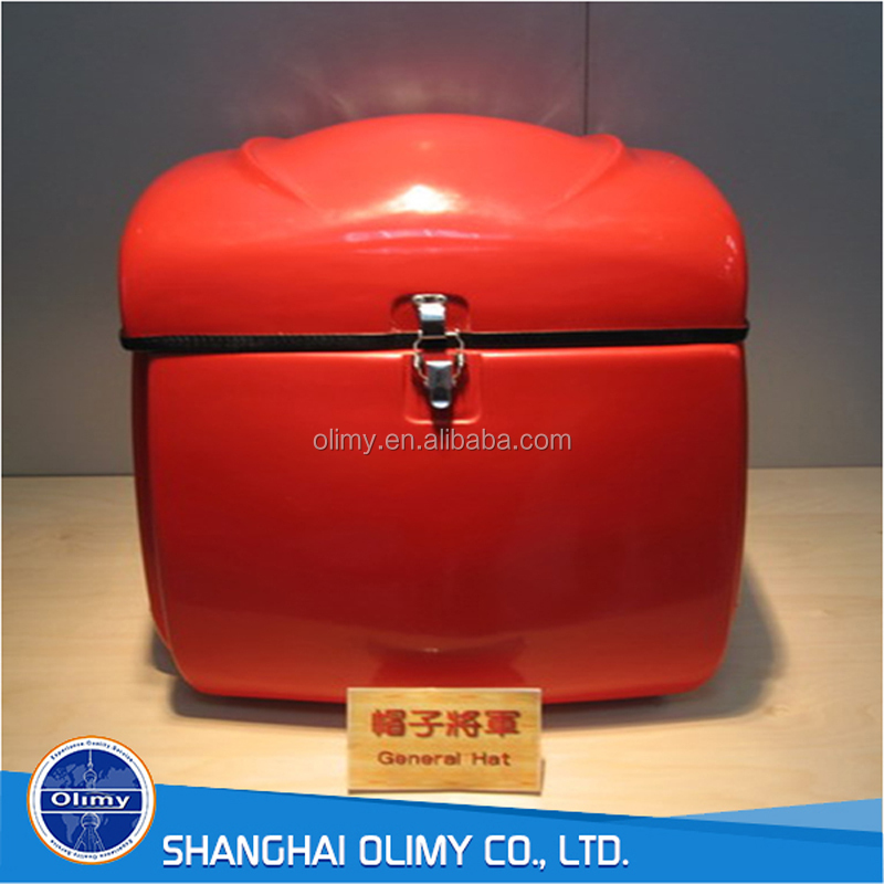 Fiberglass motorcycle delivery food box for hot sale