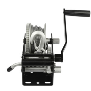 ISO9001 2000kgs powder coated portable mini rope boat anchor manual hand winch for boat trailer