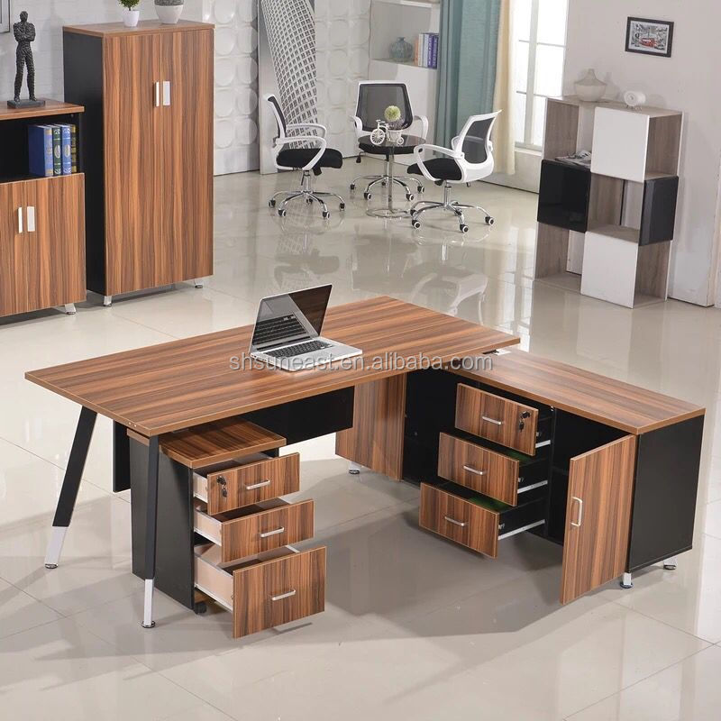 modern office table design executive desk with side table buy