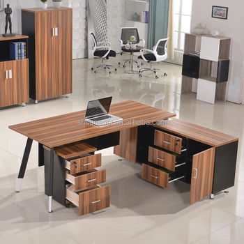 Merveilleux Modern Office Table Design Executive Desk With Side Table