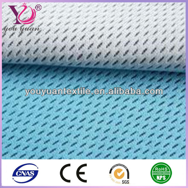 Quality polyester nylon dri fit sportswear sports shirt mesh fabric