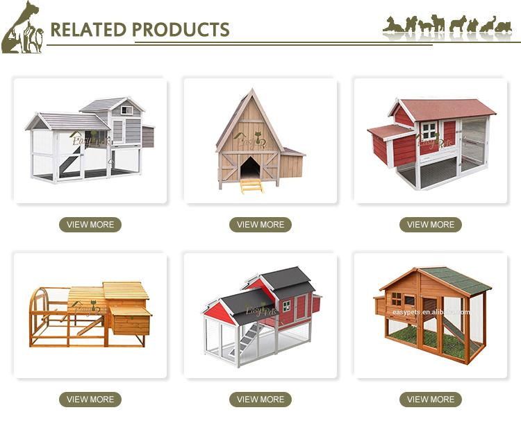 Respetuoso del medio ambiente coop de madera de diseño de Casa de jaula de pollo con al aire libre correr