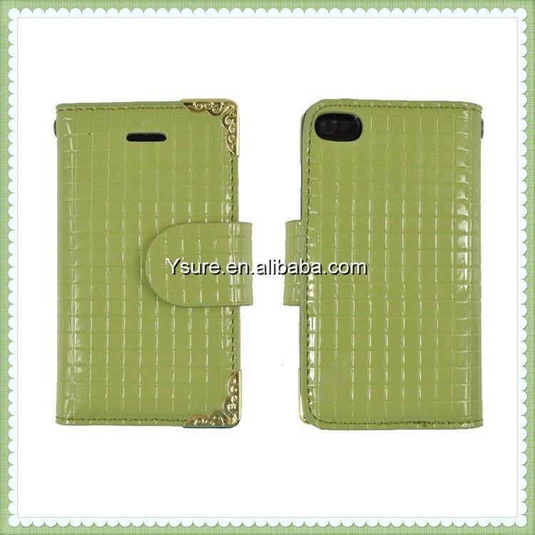 Wholesalers Book Style Leather Case For IPhone4/4S
