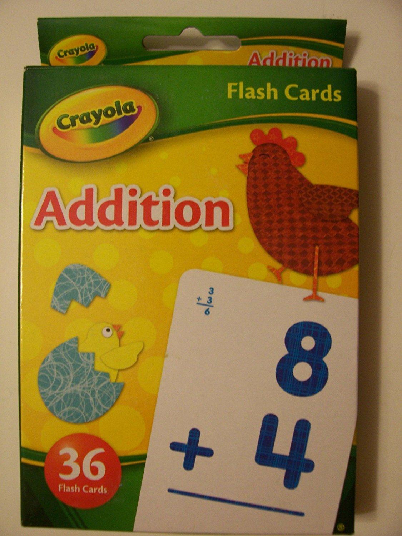 Crayola Educational Flash Cards ~ Addition (36 Flash Cards; 2012)