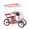 Park Rental Used Multi Passengers Pedal 4 Wheel Adult 2 Person Surrey Bike, Pedal Quadricycle Surrey Sightseeing Bike