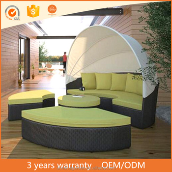 American style modular daybed outdoor rattan round bed for American rattan furniture manufacturer