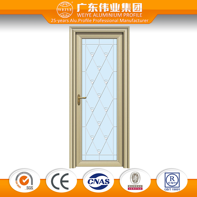 European style interior aluminium glazed swing door