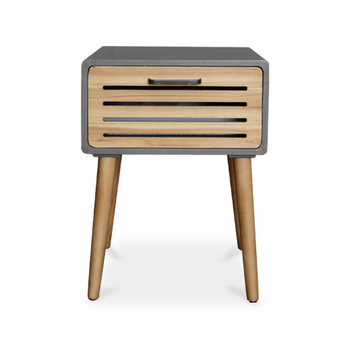 Minimalist LOFT One Drawer Wooden Bedside Table