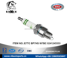 High Quality Auto Spark Plug E7TC BP7HS W7BC 0241245553 for CITROEN FIAT FORD FSO MATRA PORSCHE SAAB SKODA VOLVO.etc.