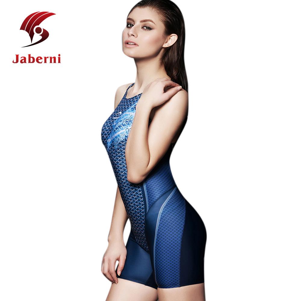 3d7b857a583a3 Competition Professional Swimwear Women Sport Swim Suit Female Race One  Piece Swimsuit Print With Pants Plus Size Bathing Suit
