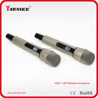 Wholesales wireless hand microphone for UHF dual wireless microphone system YU23