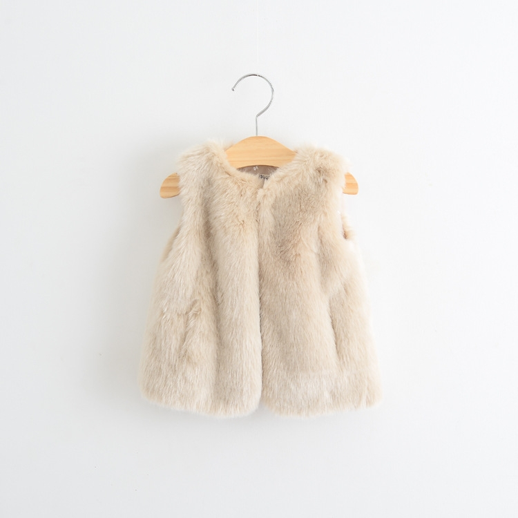 New style children faux fur coat wholesale baby new fashion fur vest coat (Ulik-A0402)
