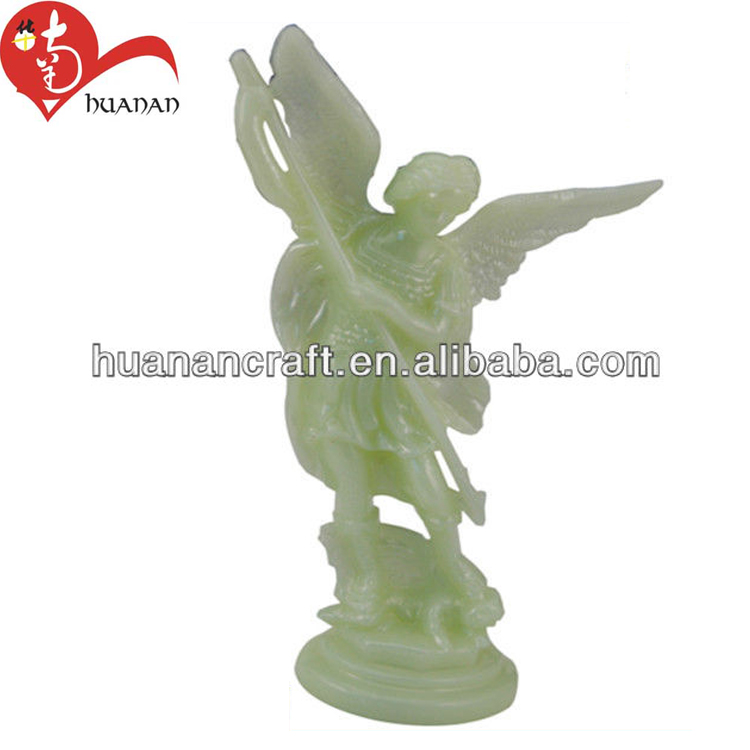 15cm*5.5cm luminous acrylic glow in the dark angel statues