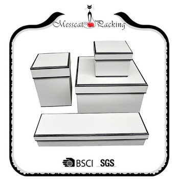 Black And White Set Top Box Packaging Gift Box For Clothes Shoes
