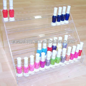 Customized small bottle display stand nail polishes bottle display rack