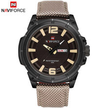 NAVIFORCE мужские часы с ремешком, спортивные, военные, кварцевые(Китай)