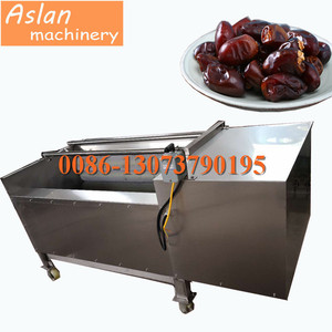 Palm dates brush cleaning machine / dates washing machine / dates soft brush cleaner washer machine