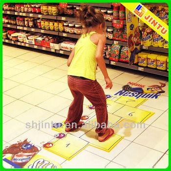 Promotional Vinyl Floor Decal Die Cut Sticker For Market