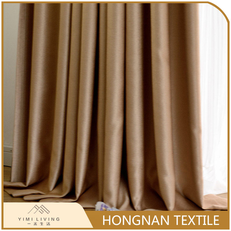 Best selling custom design fashion blackout plain polyester curtain