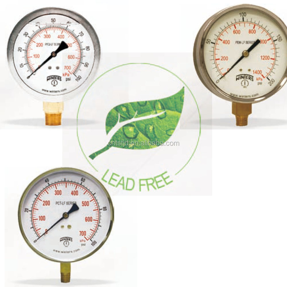 Winters Pressure Measuring Instruments Lead Free Wetted Parts ...