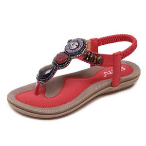 fdba037316a1f Amazon Hot Sell Women Wedding Flat Sandals Bohemian Flip-Flop Shoes