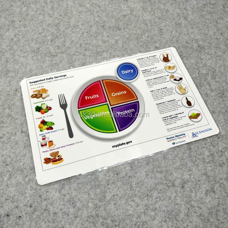 ทำความสะอาดง่ายกันน้ำจีนผู้ผลิตขายส่งอาหารค่ำตาราง Placemat