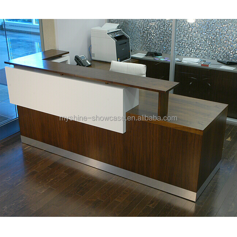 reception desk kiosk reception showcase